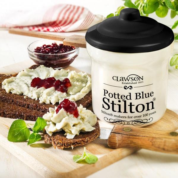 Käse Blue Stilton im Tontopf 2er-Set