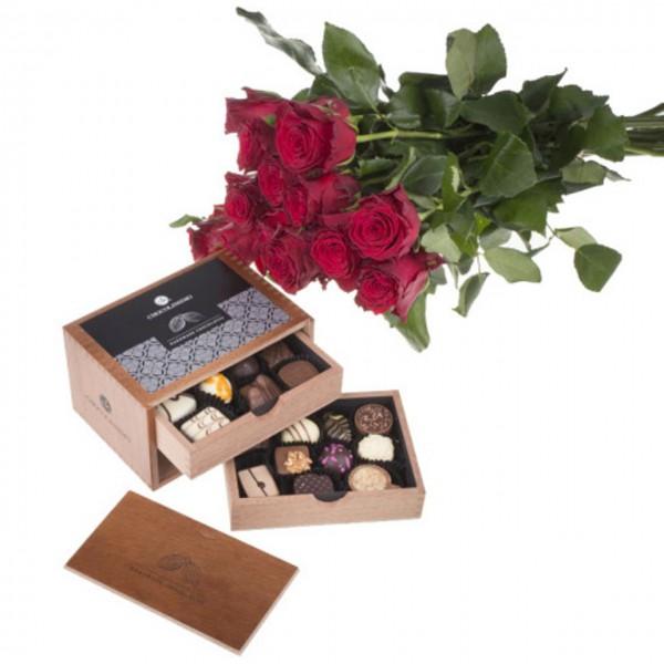 Rosenstrauß und Chocolaterie