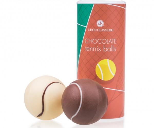 Tennisbälle aus Schokolade