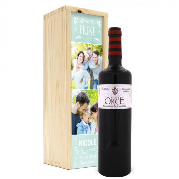Wein in Holzkiste - Orce Crianza