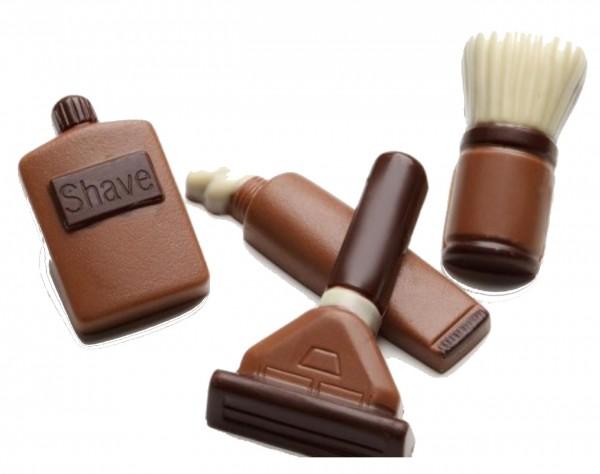 Rasierset aus Schokolade