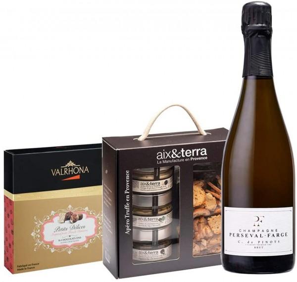 Champagne & Feinkost Gourmet Geschenkbox