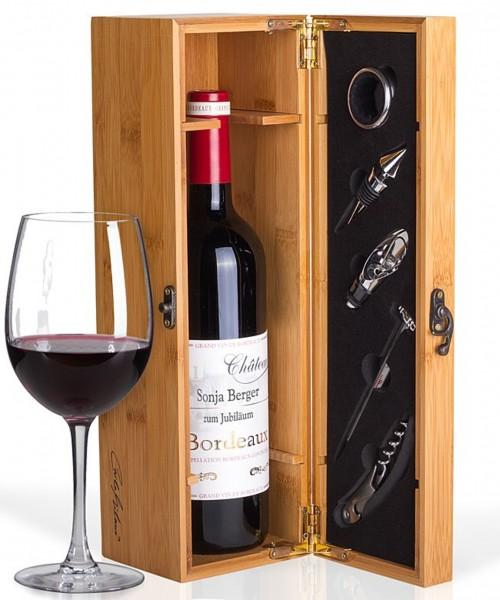 Mein eigener Bordeaux und Präsentkiste