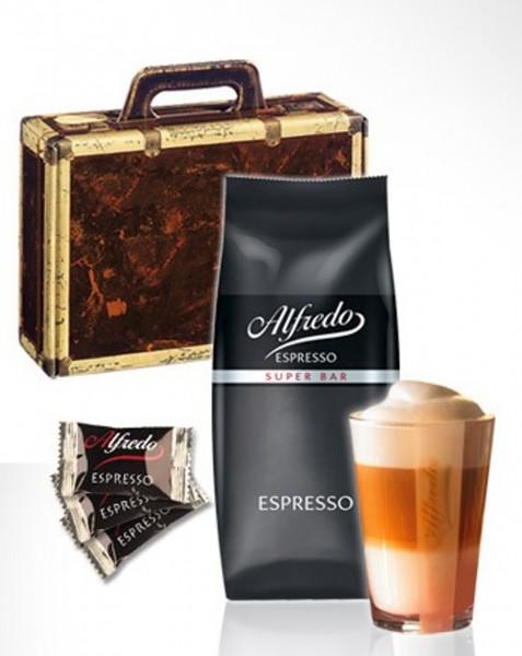 Geschenk-Koffer mit Alfredo Espresso, Schokolade