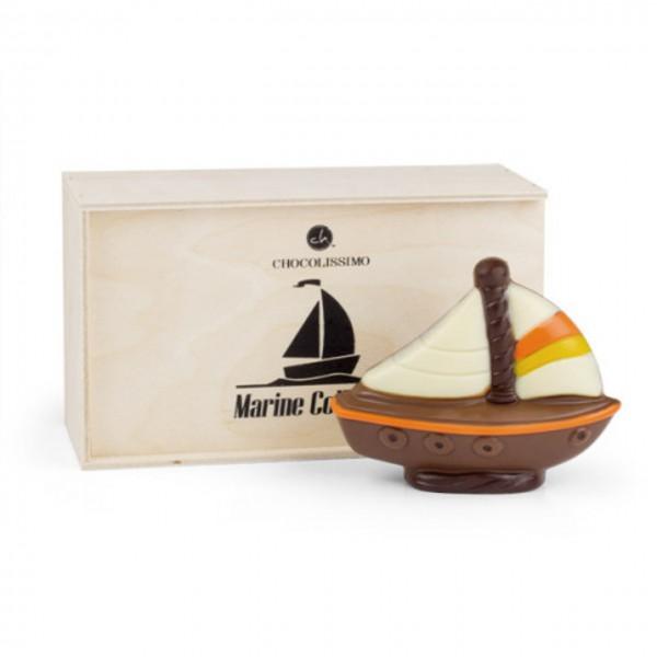Segelschiff aus Schokolade
