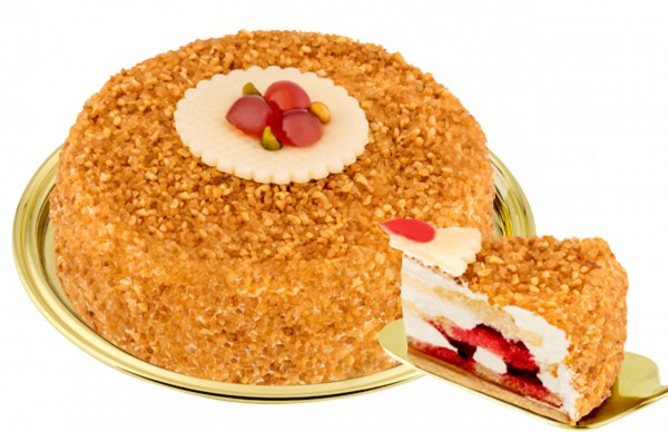 Haselnuss-Krokant-Torte