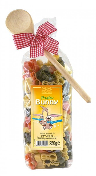 Pasta Präsent Bunny mit bunten Hasennudeln