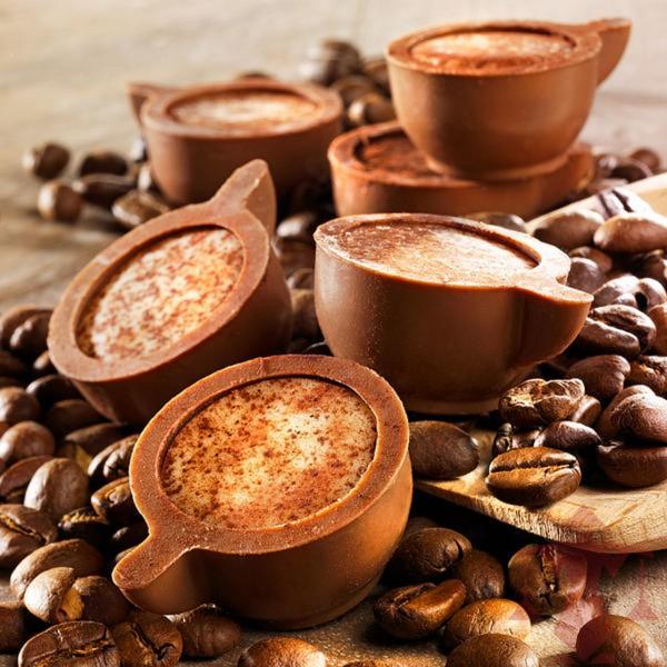 Pralinen Cappuccino-Tassen