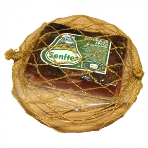 Südtiroler Speck Senfter ca. 1,2 kg.