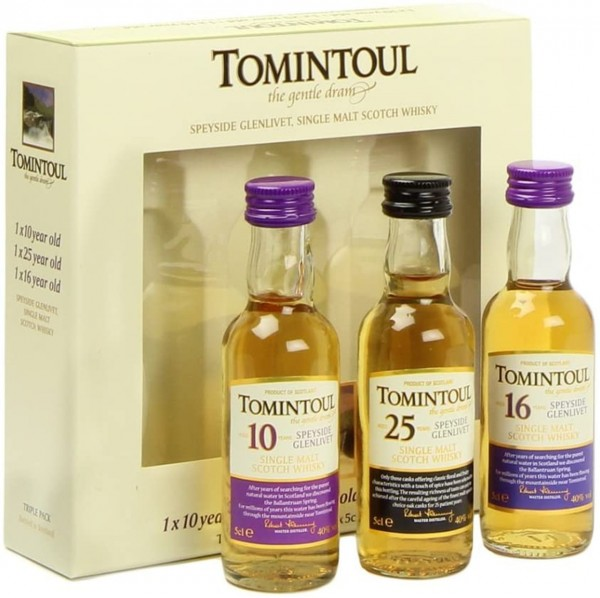 Tomintoul Whisky Tri Pack 5 cl
