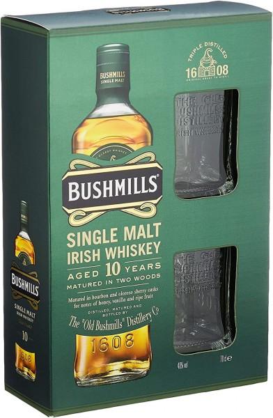 Bushmills 10 Years 0,7l mit 2 Gläsern