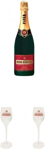 Piper Heidsieck Champagner Brut Gläser Set