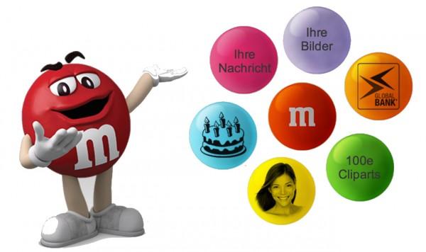 Ihr Foto oder Text auf M&M`s