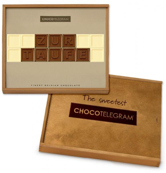 """Schokoladen-Telegramme """"zur TAUFE"""""""