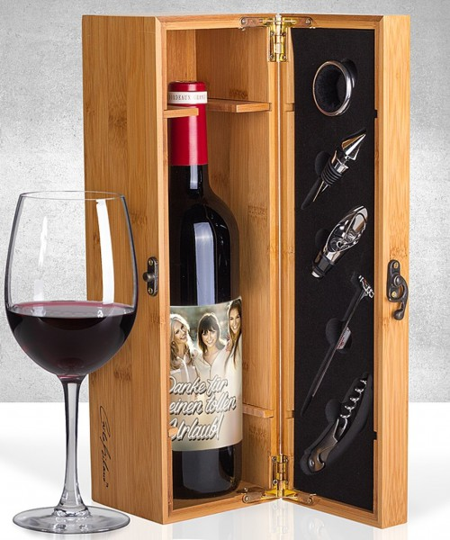 Mein eigener Foto-Bordeaux und Präsentkiste