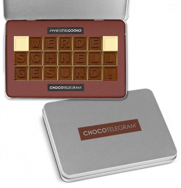 """Schokoladen-Telegramme """"GUTE BESSERUNG"""""""