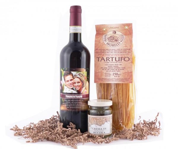 Wein Pasta Set Natura - mit eigenem Etikett