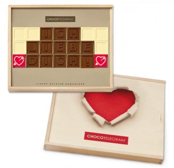 Schokoladen-Telegramme LIEBE
