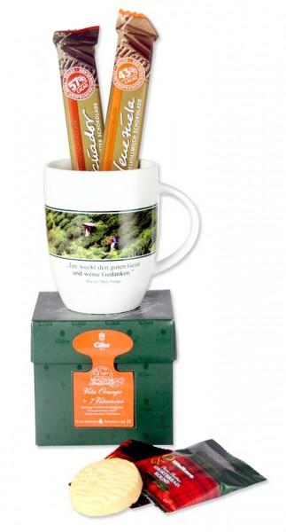 Tea Diamonds Geschenktasche mit Tasse