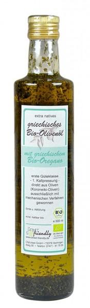 Bio Olivenöl mit Bio Oregano