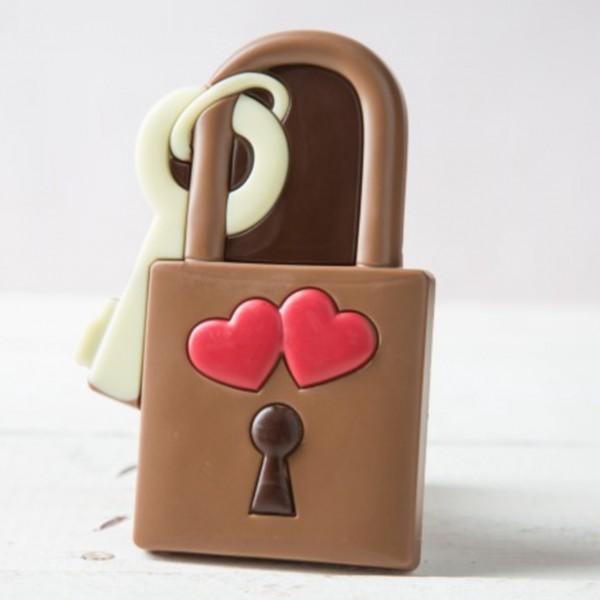 Liebesschloss aus Schokolade, 80g