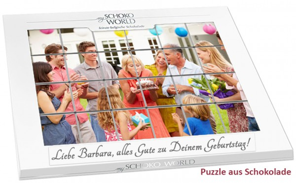 Schokoladen-Puzzle mit eigenem Foto