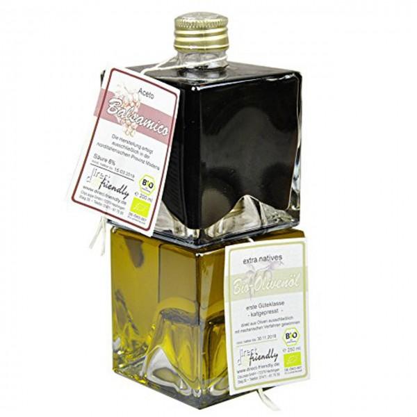 Bio Geschenkset Duett Balsamico und Olivenöl