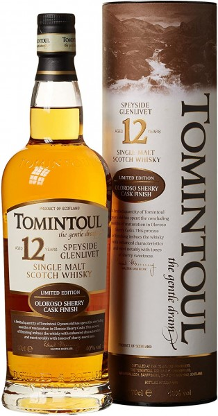 Tomintoul Whisky 12 J. Oloroso