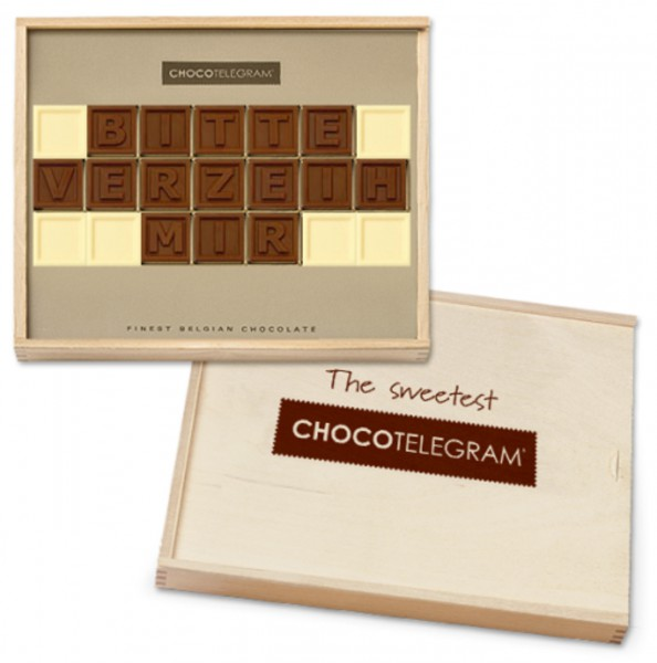 "Schokoladen-Telegramme ""ENTSCHULDIGUNG"""
