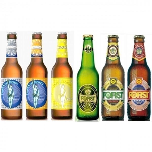 Südtiroler Bier Set Pustertaler Freiheit + Forst 18x