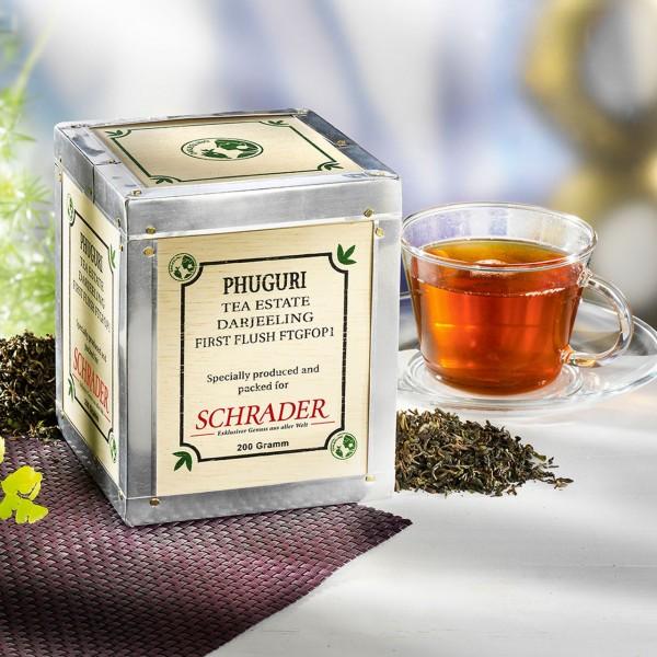 Schwarzer Tee Darjeeling First Flush Phuguri Bio