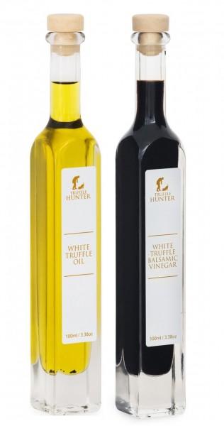 Weißer Trüffel Öl und Balsamico Essig