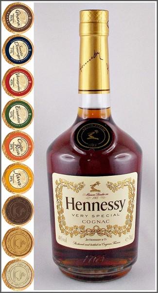 Cognac Hennessy VS + 9 Edel Schokoladen