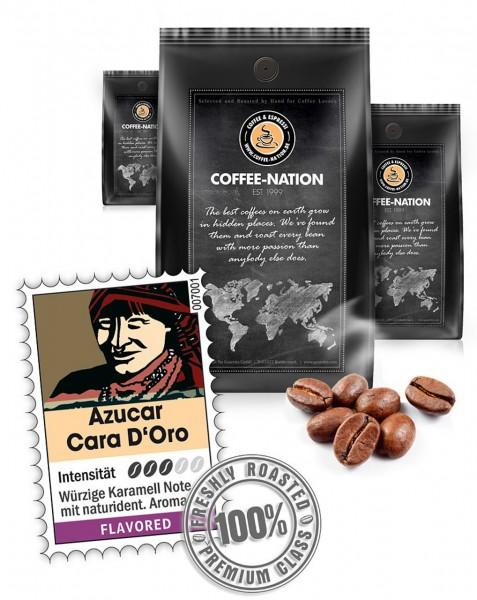 Coffee-Nation Sahne-Caramel Azucar Cara D'Or