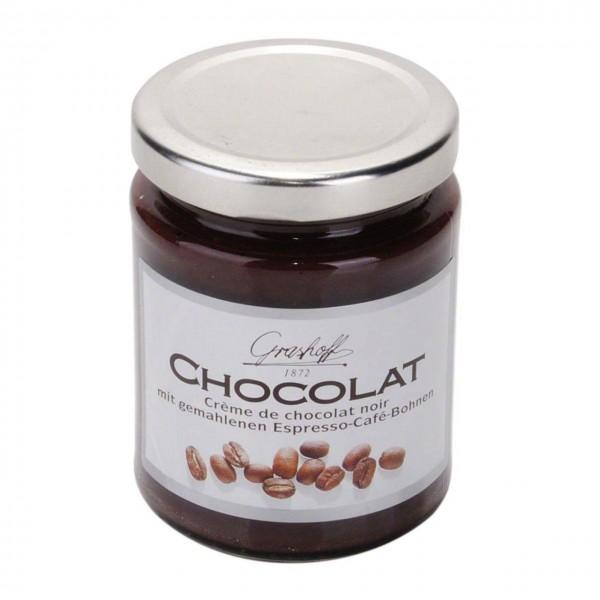 Schokoladencreme mit gemahlenen Espresso
