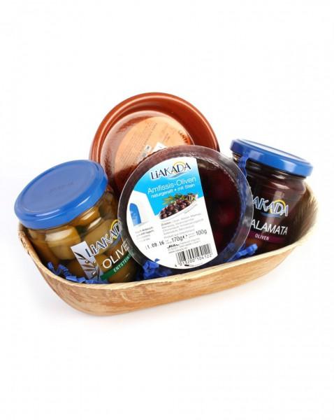 Geschenkset Tapas Abend mit Oliven und Schälchen